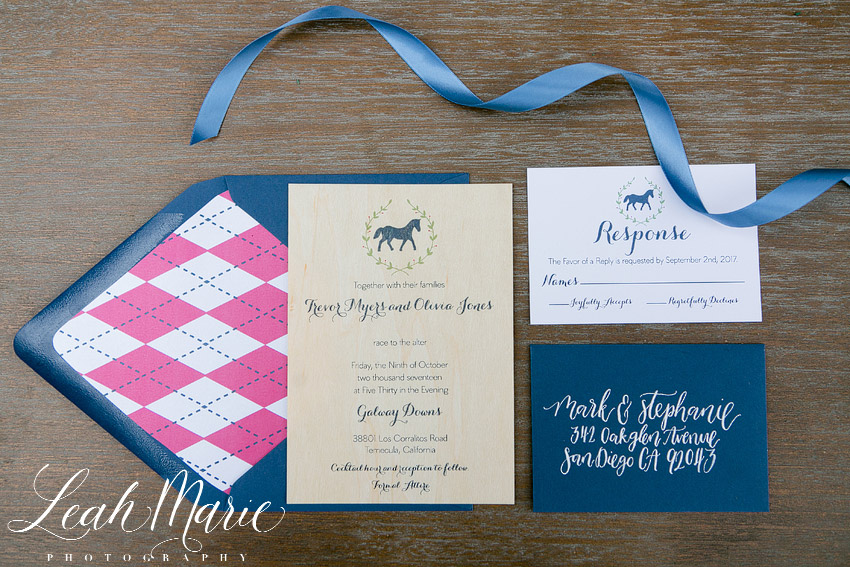 wedding invitation galway downs temecula california